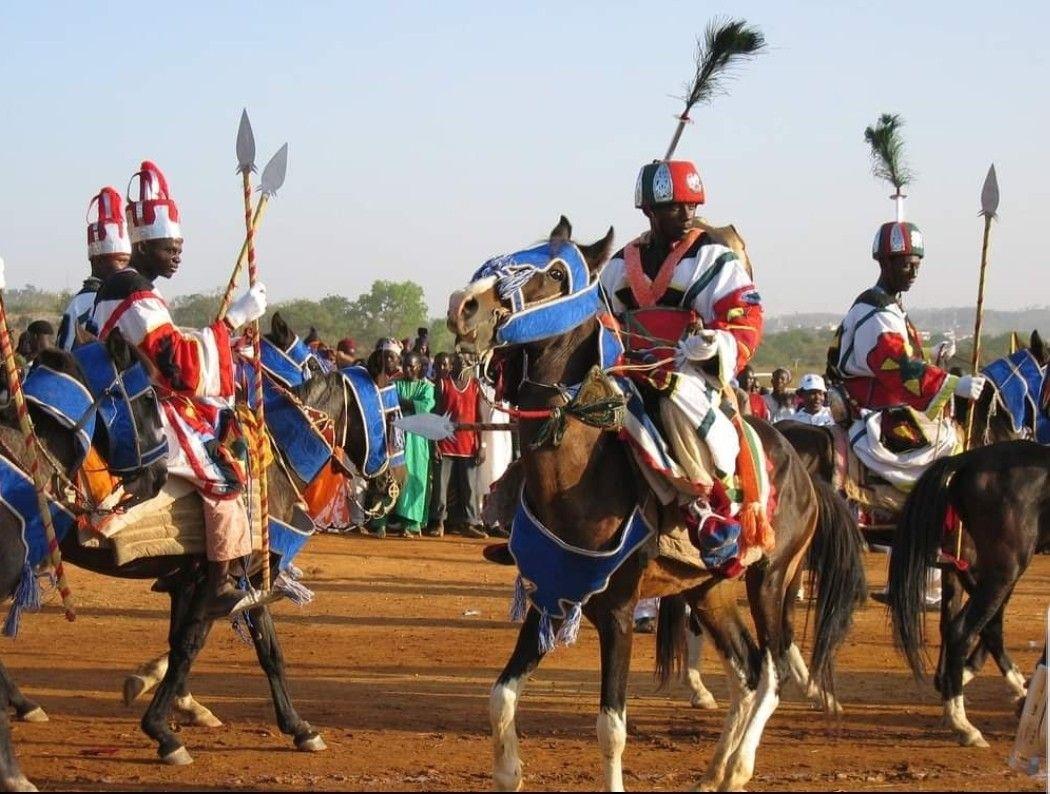 Hausa reenactment of heavy cavalry of Bornu Empire. Knights of the ...