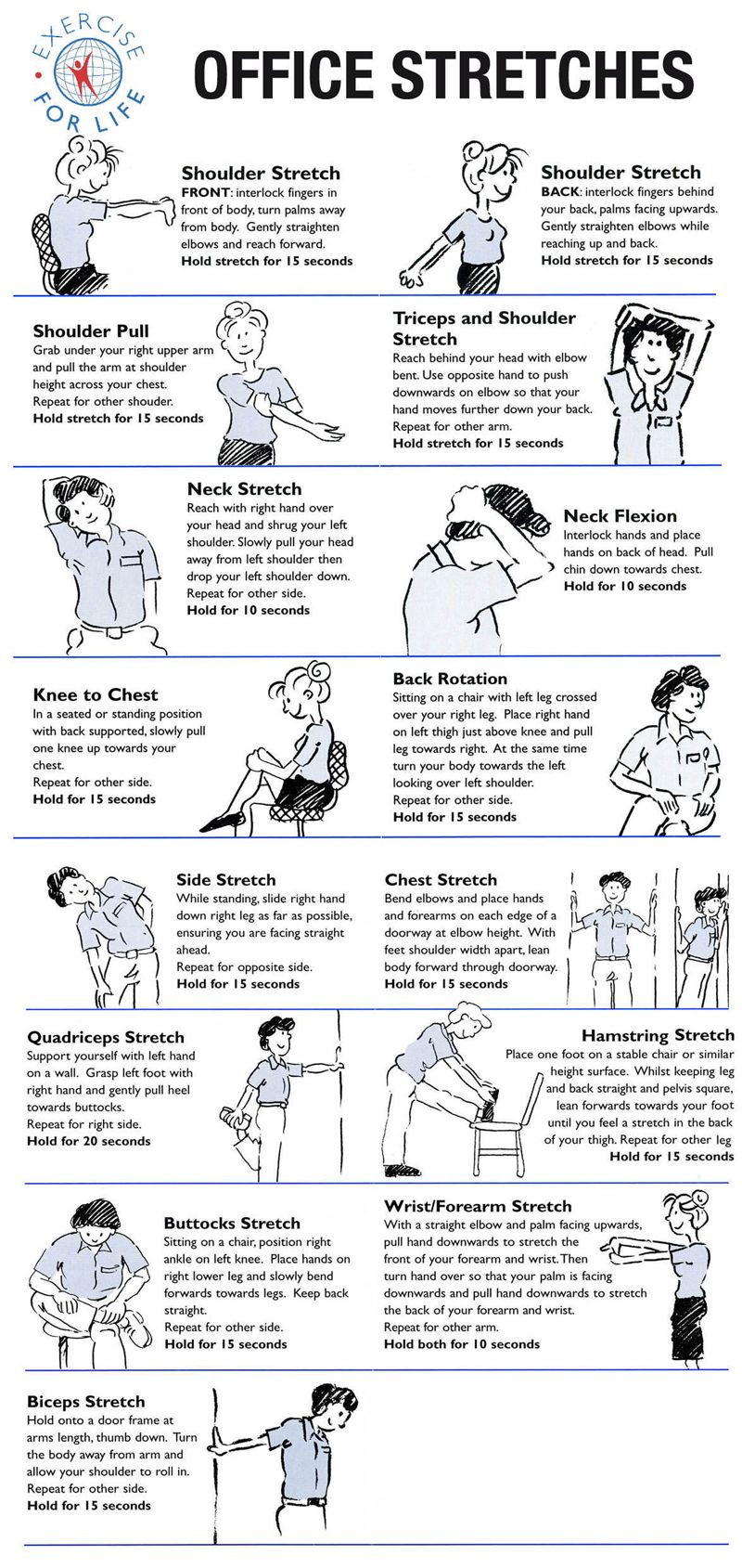 Occupational Therapy Office Stretches Http Www Exerciseforlife