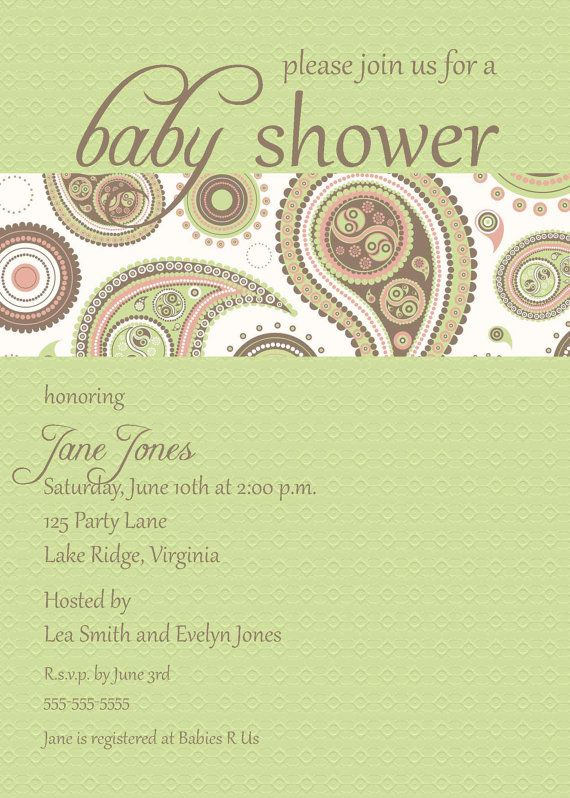 Printable paisley baby shower invitation by noteworthyprintables printable paisley baby shower invitation by noteworthyprintables 1000 filmwisefo