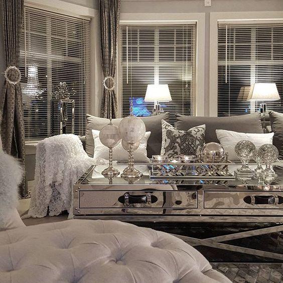 ᒪoᑌiᔕe Glam Living Room Glam Living Room Decor Living