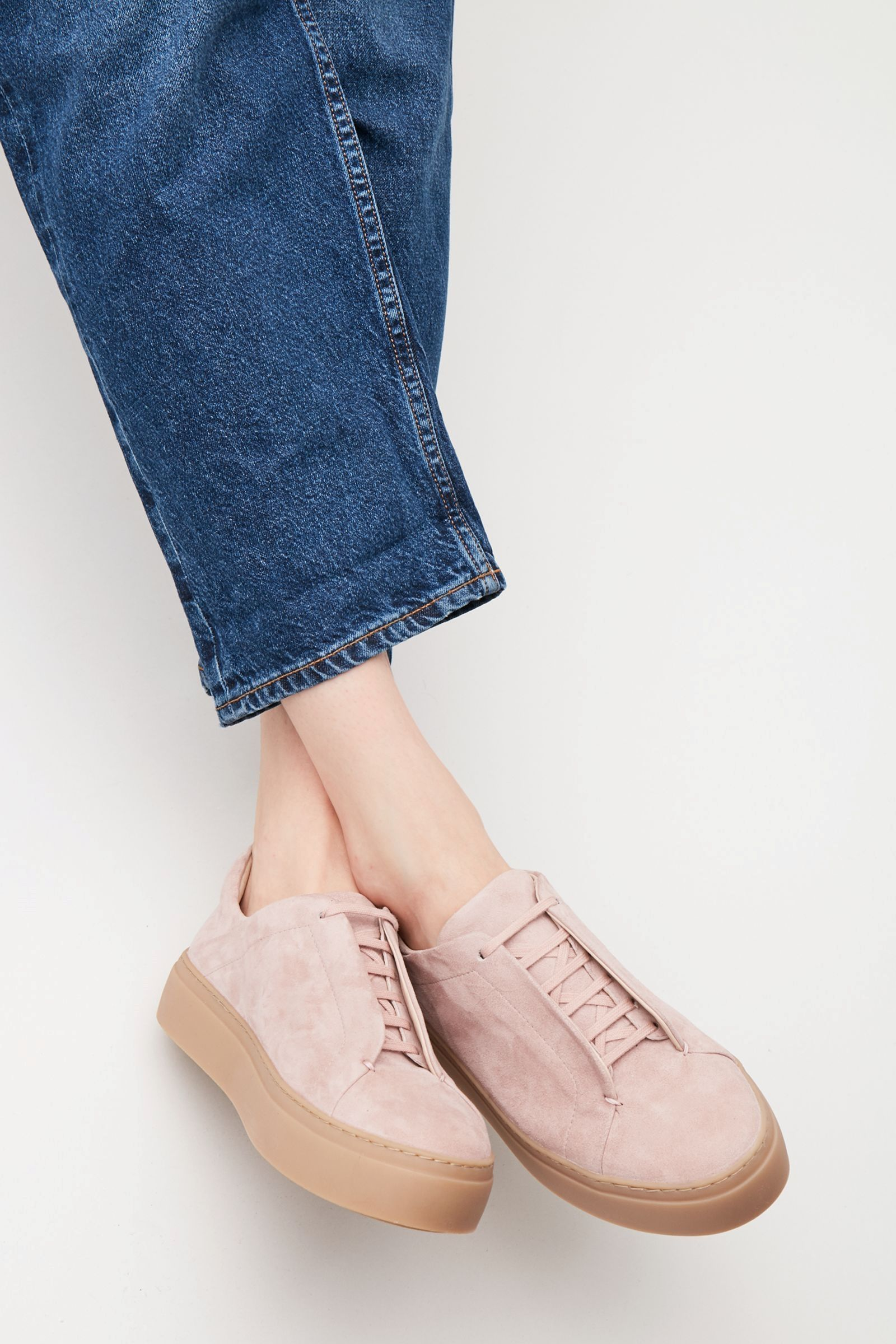 55765d3afc1d COS image 8 of Sneakers with hidden laces in Pink | shoes | Shoes ...