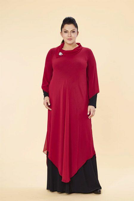 Lilas Xxl Siyah Visne Sifon Buyuk Beden Elbise Mutevazi Kiyafetler Elbise Giyim