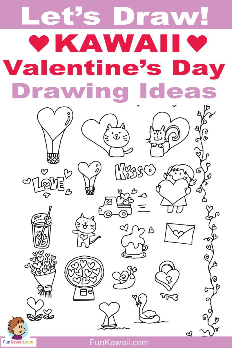 24 Valentine S Day Love Sweet Doodles Free Printables Drawing