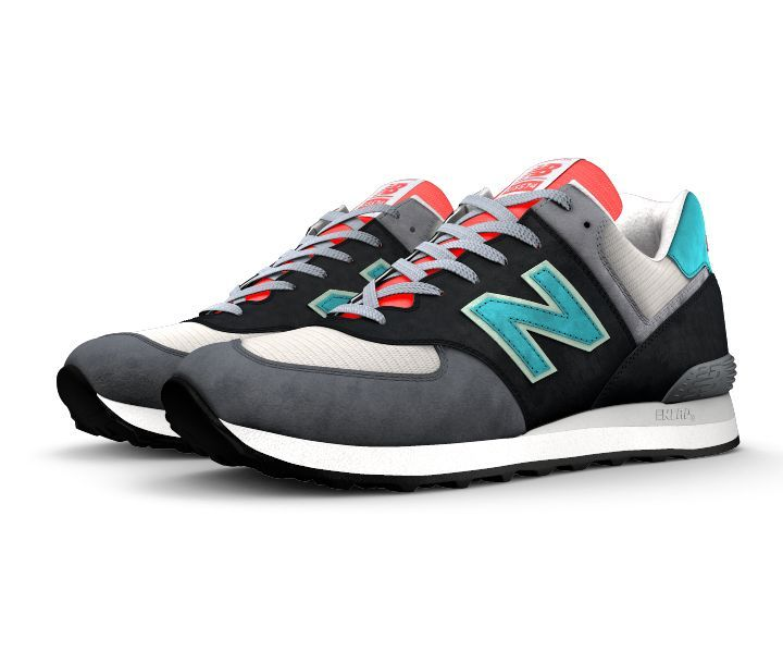 buy popular 016fd 9a7a3 My custom NB1 574. Favourite colours but completely wearable ...