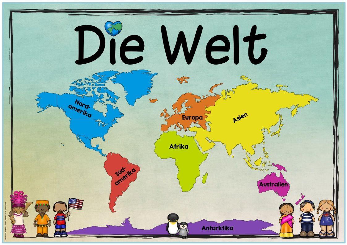 Weltkarte Kontinente Kinder : neues themenplakat heute gibt es ein plakat zum thema kontinente die welt das ich gerade im ~ A.2002-acura-tl-radio.info Haus und Dekorationen