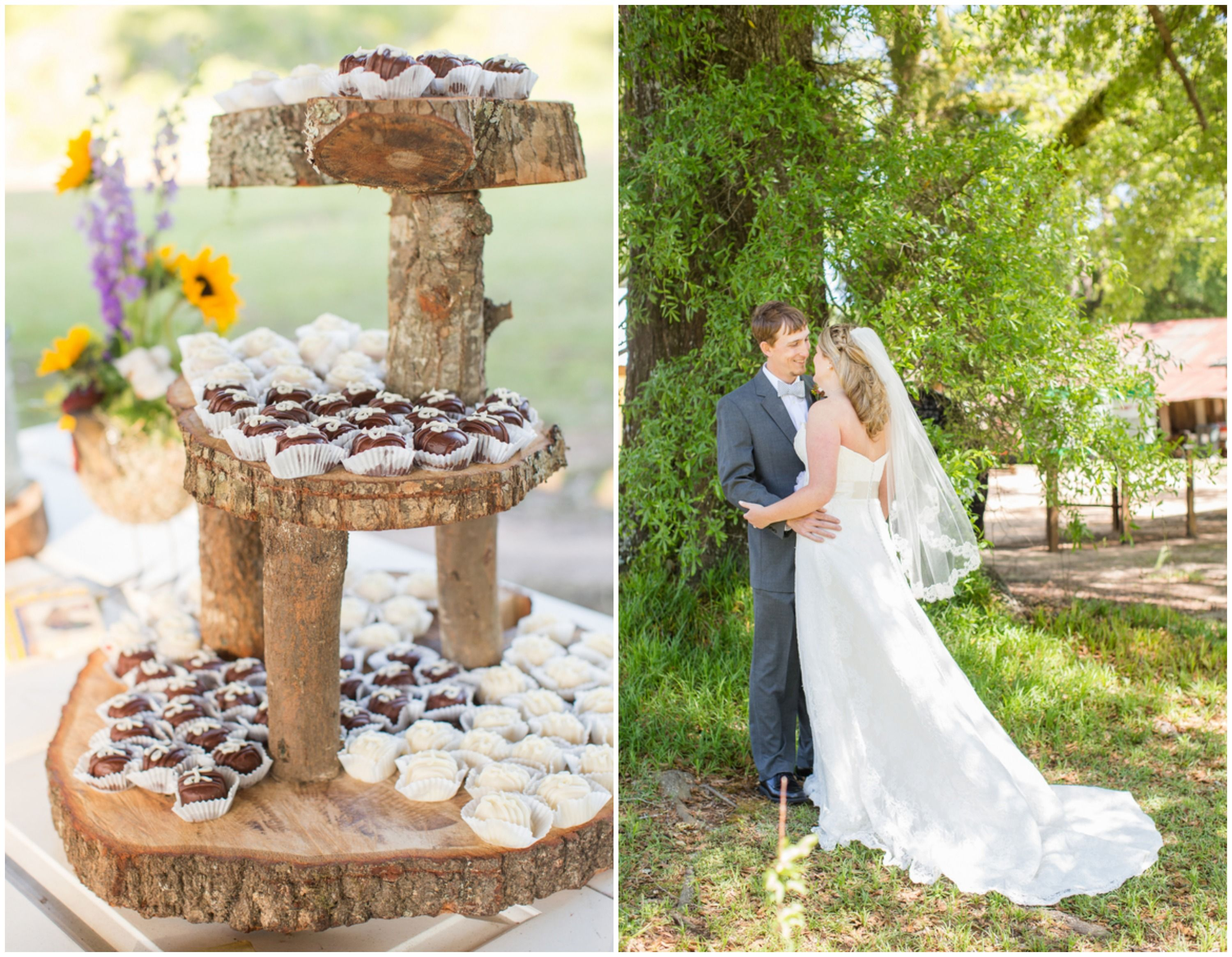 Wedding on a family farm wedding cake stands rustic wedding cakes