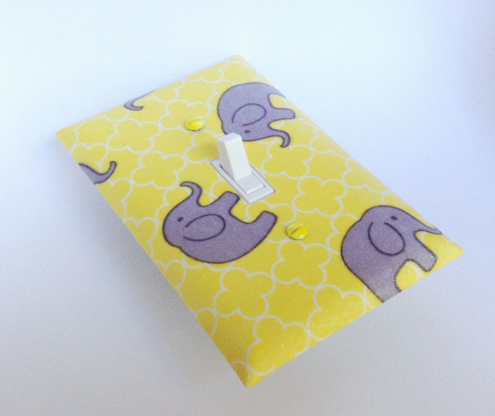 Safari Elephants Switchplate - Light Switch Plate - Fabric Light ...