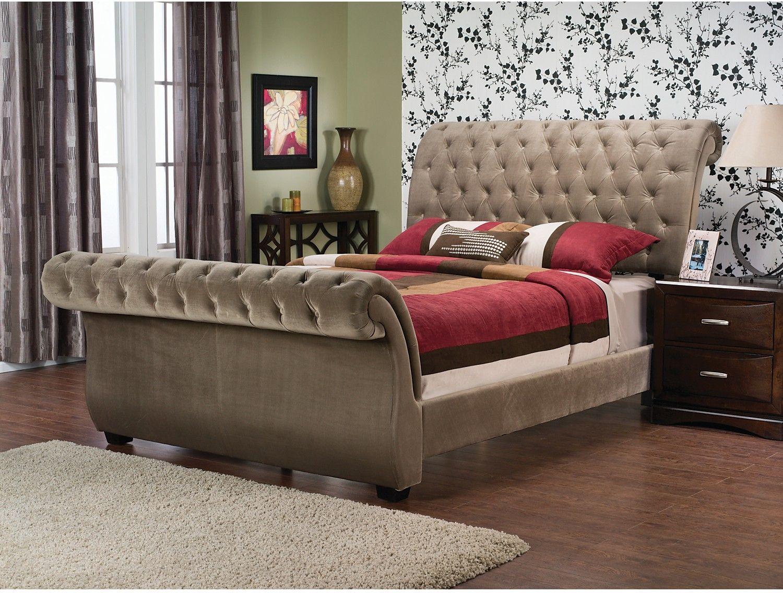 Bedroom Furniture Westminster Polyester Velvet King Bed