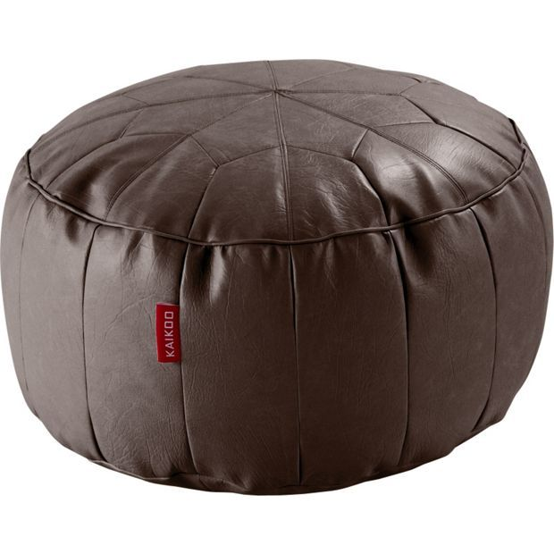 Buy Argos Home Moroccan Faux Leather Footstool Chocolate