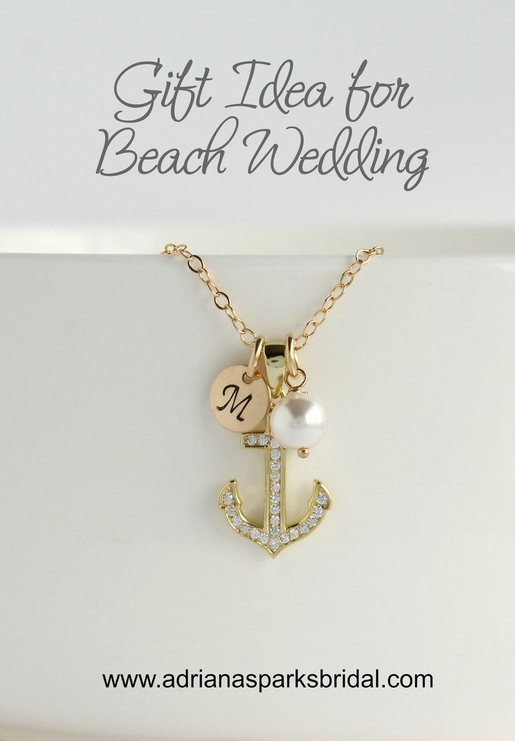 Maid Of Honor Best Friend Gift Anchor Gold Necklace Matron Of