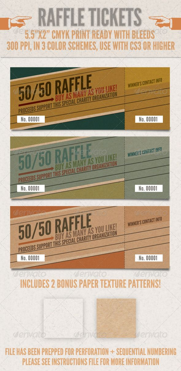 Raffle Tickets Raffle tickets, Print templates and Ticket template - fundraiser tickets template
