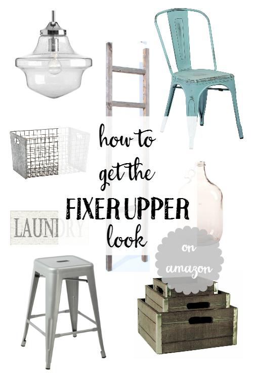 how to get the Fixer Upper look