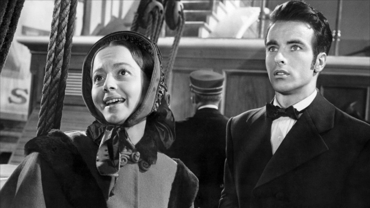 Olivia de Havilland and Montgomery Clift in The Heiress