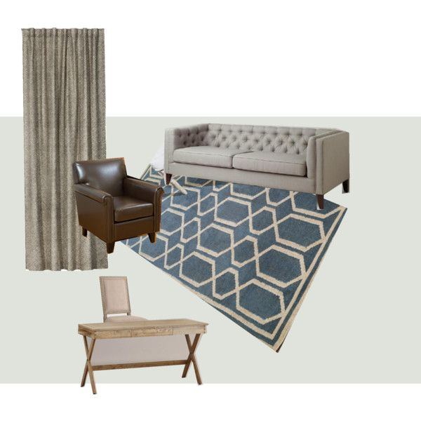 TB's office by elizagreyinteriors on Polyvore featuring interior, interiors, interior design, home, home decor, interior decorating, World Market, Christopher Knight Home and Benjamin Moore