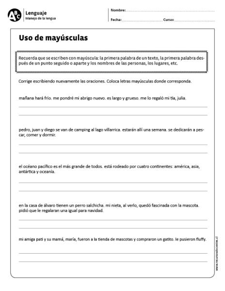 Uso de mayúsculas | trabajo | Pinterest | Lengua, Lenguaje y Ortografía