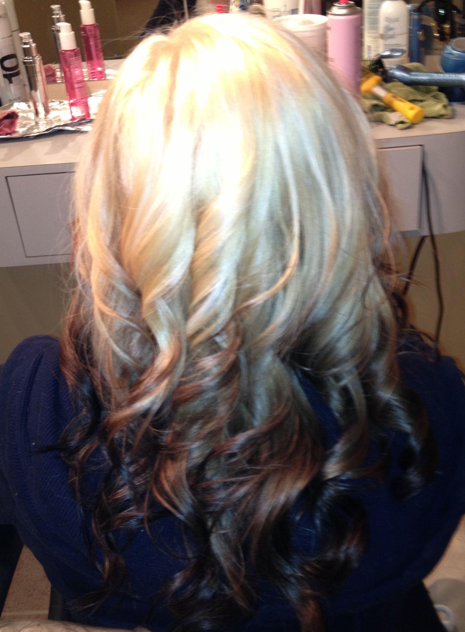 Ombré light blonde to dark
