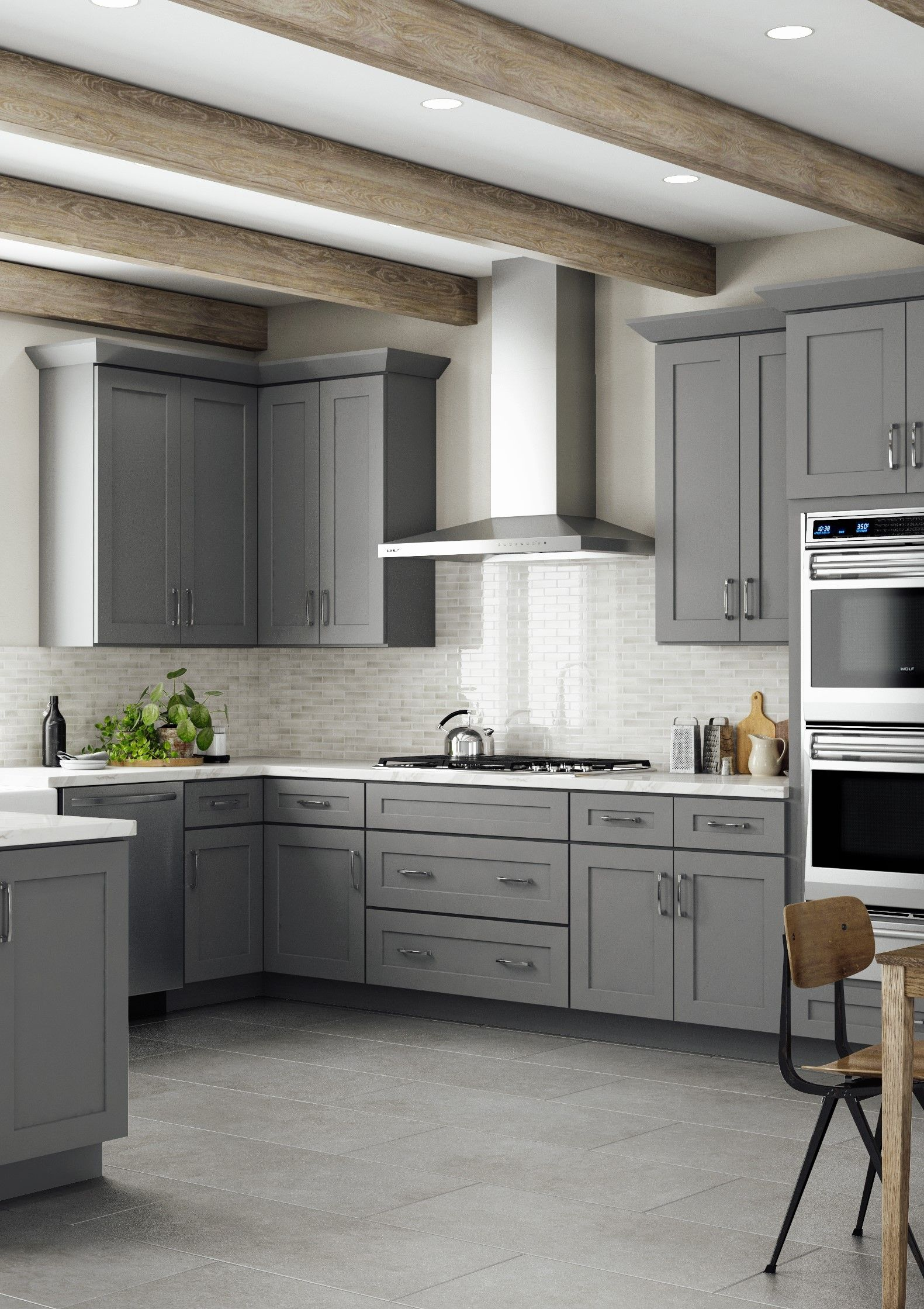 Gray Shaker Kitchen Cabinets Grey Shaker Cabinets   Lily Ann Cabinets | Ready made kitchen