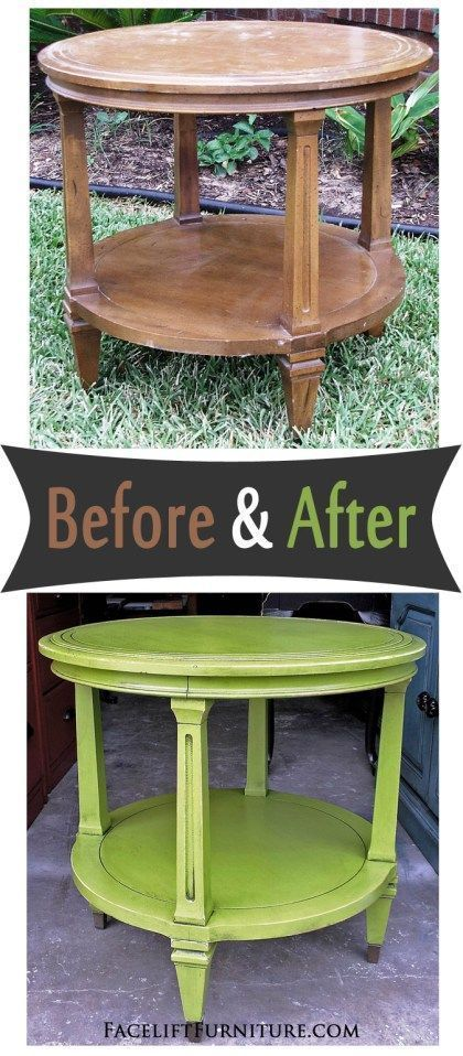 vintage end table painted glazed and distressed in lime green and black glaze before and. Black Bedroom Furniture Sets. Home Design Ideas