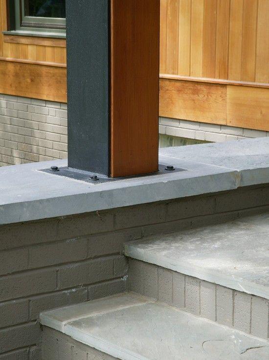 Wood & metal post detail | Structural Wood + Steel | Wood columns