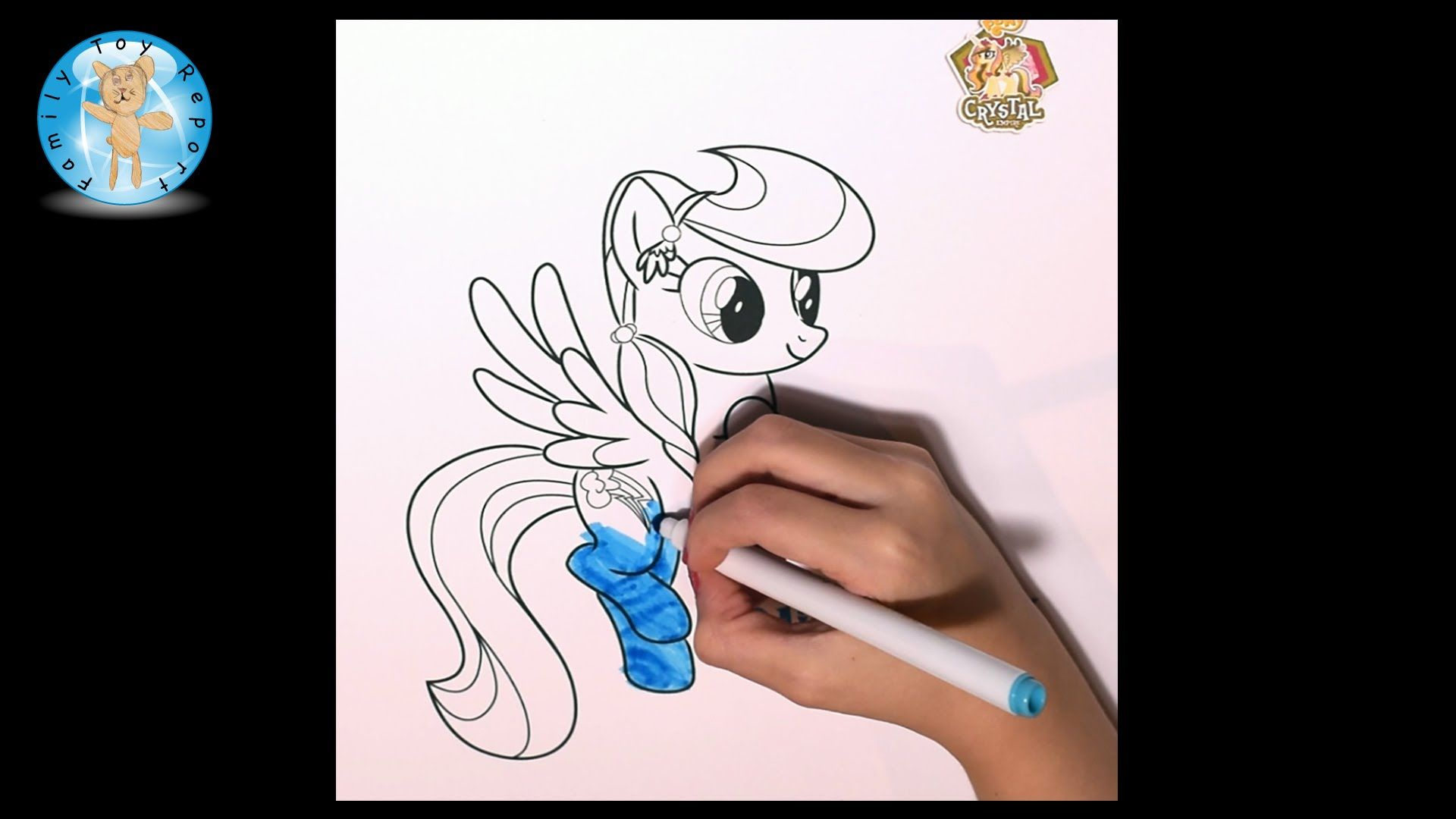 My Little Pony Coloring Pages Hd : My little pony rainbow dash coloring page crayola markers speed