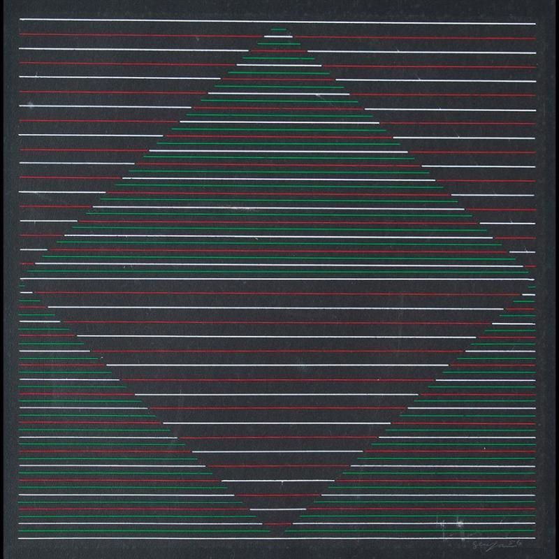 Gouache Artist: Ivan Serpa Completion Date: 1956 Style: Op Art Genre: abstract