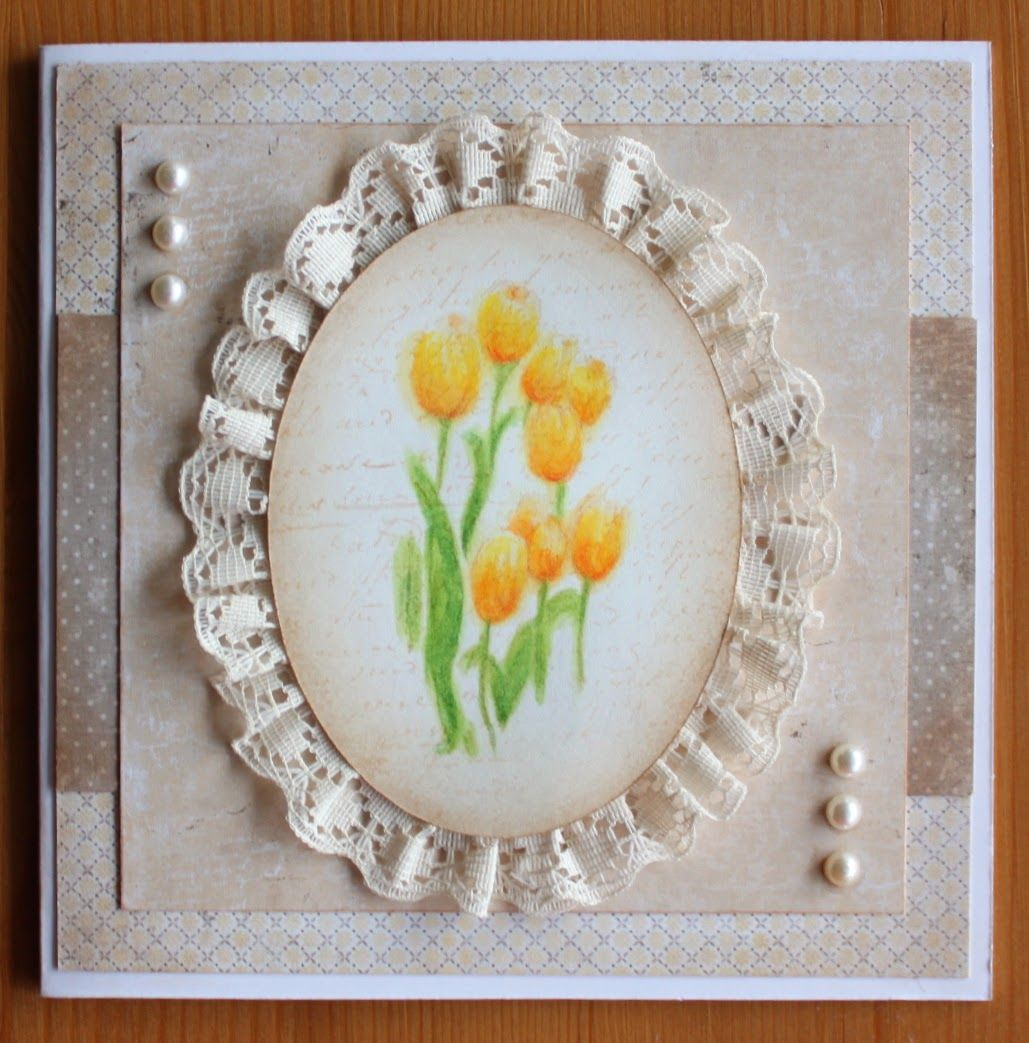 Stamp Penny Black, Easter, Tulips