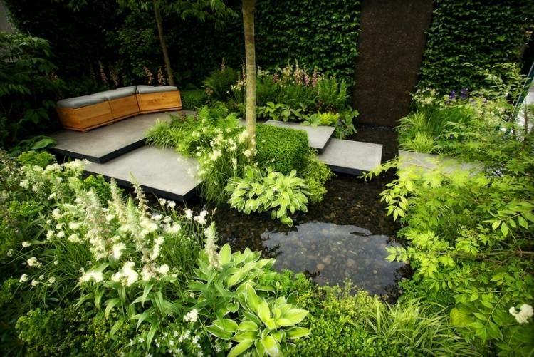 Faire un bassin de jardin 30 idées fantastiques à emprunter - terrasse bois avec bassin