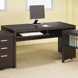 Perfect For The Home The Meridian 42 Computer Desk Has A Tempered Glass Inlay And Accommodate Contemporary Computer Desk Home Office Furniture Computer Desk