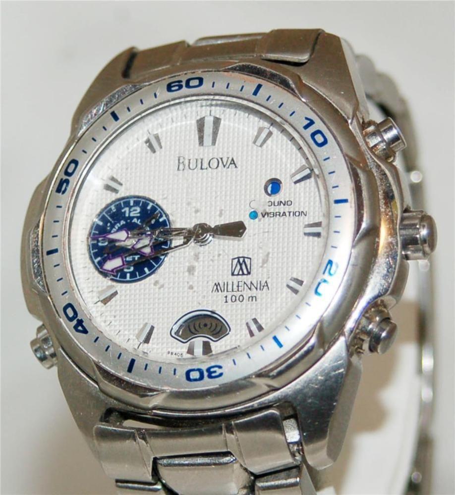 Men' Bulova Millennia Sound Vibration Alarm Watch 100m