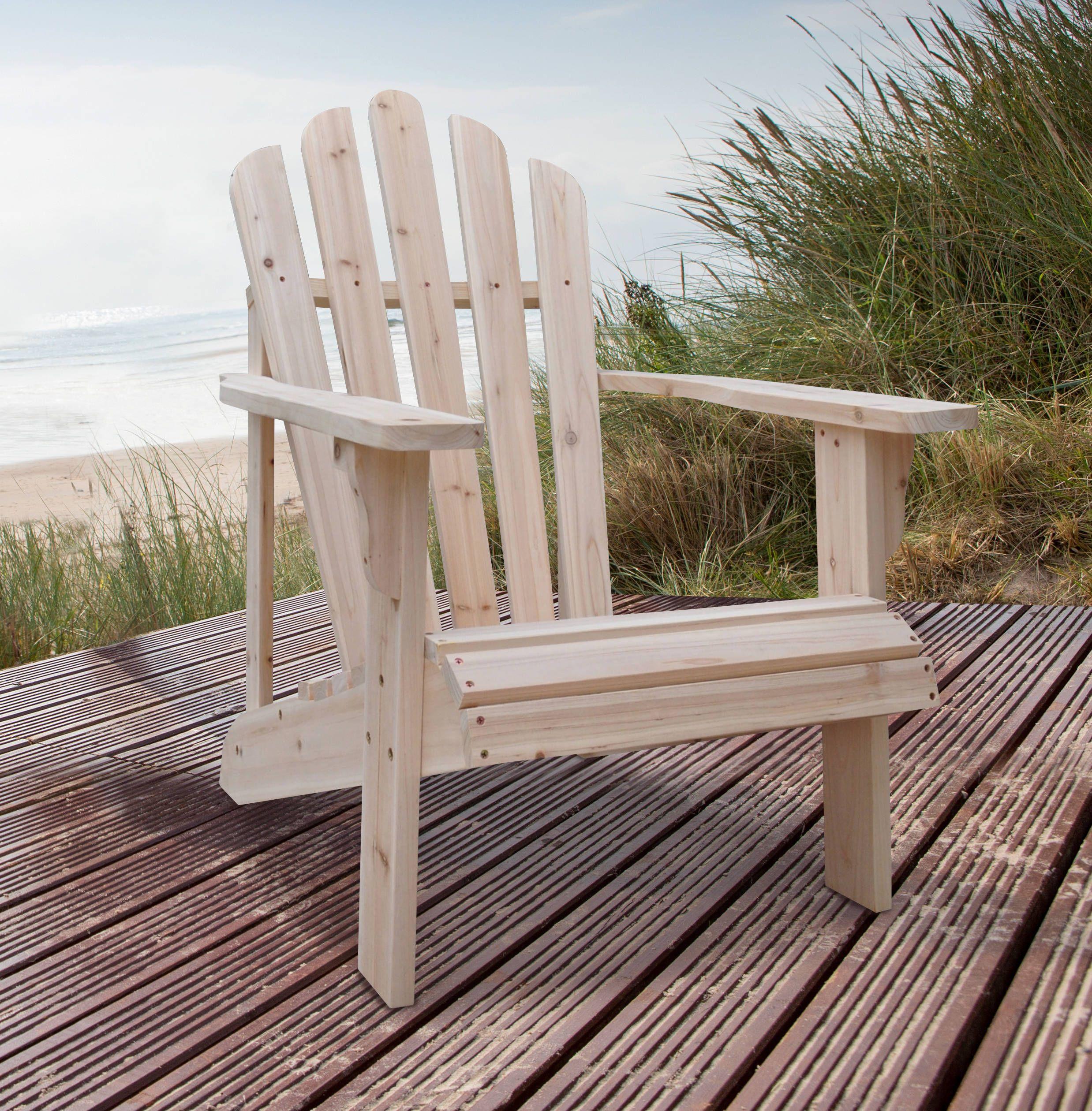 Shine Westport Natural Cedarwood Adirondack Chair Wood