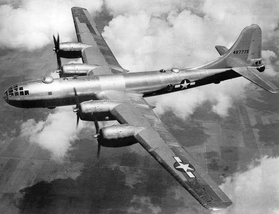 B-29 Superfortress is a four-engine propeller-driven heavy bomber designed by Boeing that was flown primarily by the United States toward the end of World War II and during the Korean War. It was one of the largest aircraft to see service in World War II and a very advanced bomber for its time