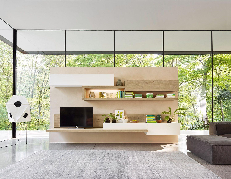 Wohnzimmer fernsehwand ~ Livitalia wohnwand c26 tv lowboard indirekte beleuchtung und