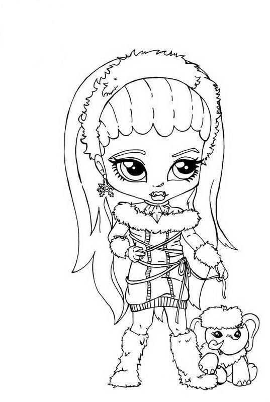 download and print abbey bominable little girl monster high coloring page