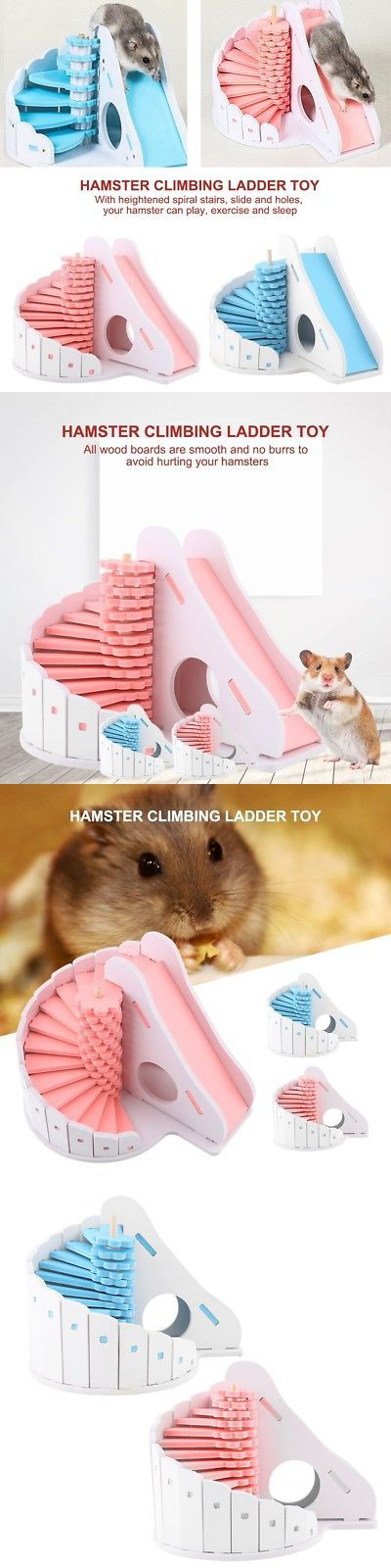 Exercise And Toys 63113 Pet Rat Hamster Wooden Climbing Ladder With Slide House Cage Nest Playing Toy Buy It Now Only Exercise And Toys 63113 Pet M