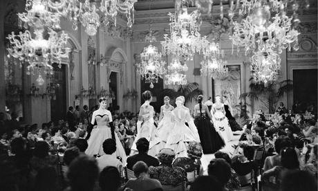 Fashion show in Sala Bianca Pitti Palace, Florence, 1955. Photograph: GM Fadigati/Giorgini Archive, Florence