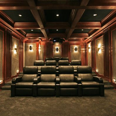 Lighting Heights And Columns Media Room Design Pictures Remodel