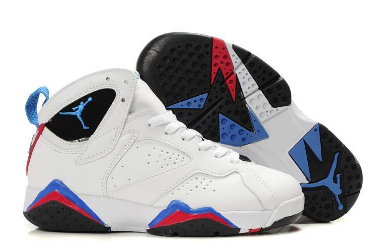 Buy 2013 New Women Air Jordan 7 retro shoes white blue red black Latest Now