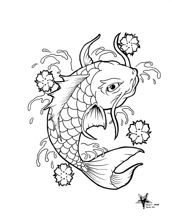 Koi fish outline koi flash by almigh t inspiration ll for Koi fish outline
