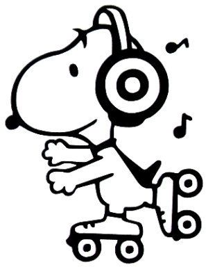 3 inch Disco Snoopy Vinyl Decal Sticker by TheVinylSweatshop, $2.25