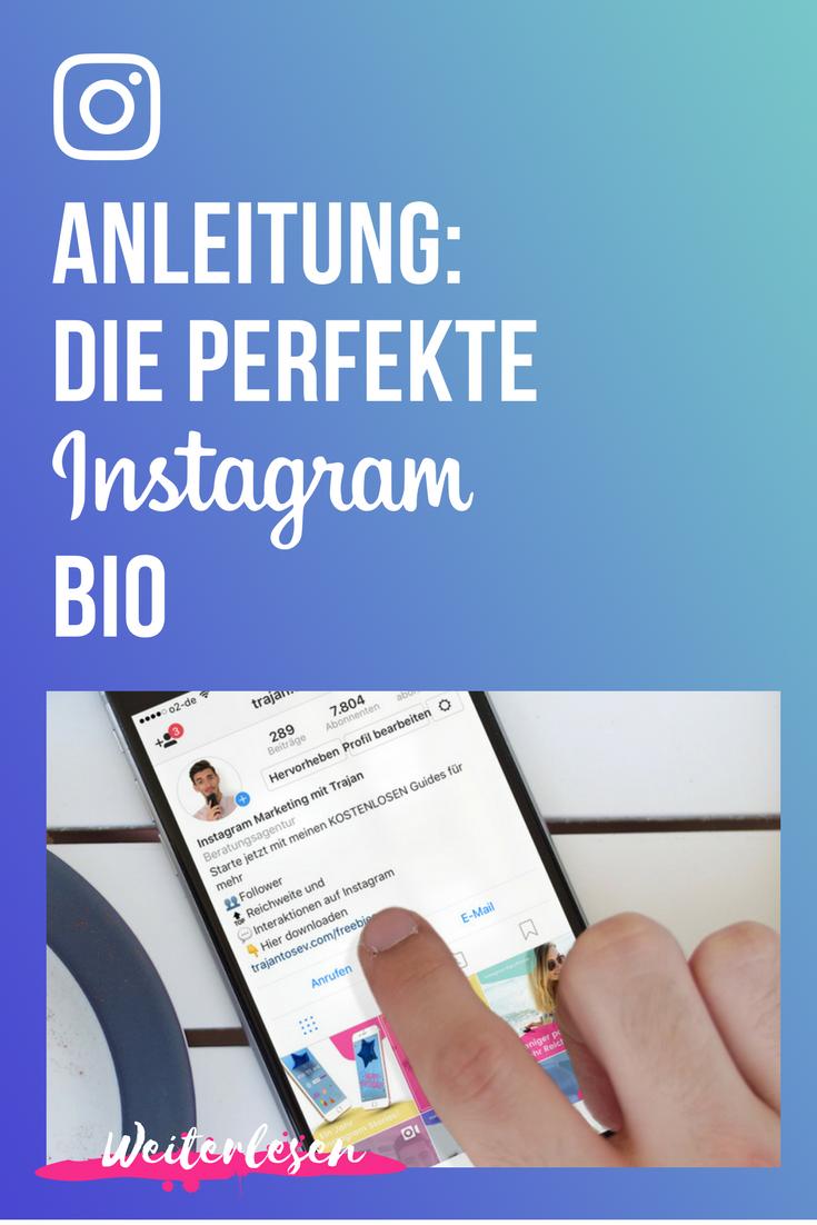 Instagram Biografie schreiben… Keine so einfache Aufgabe! Meistens ...