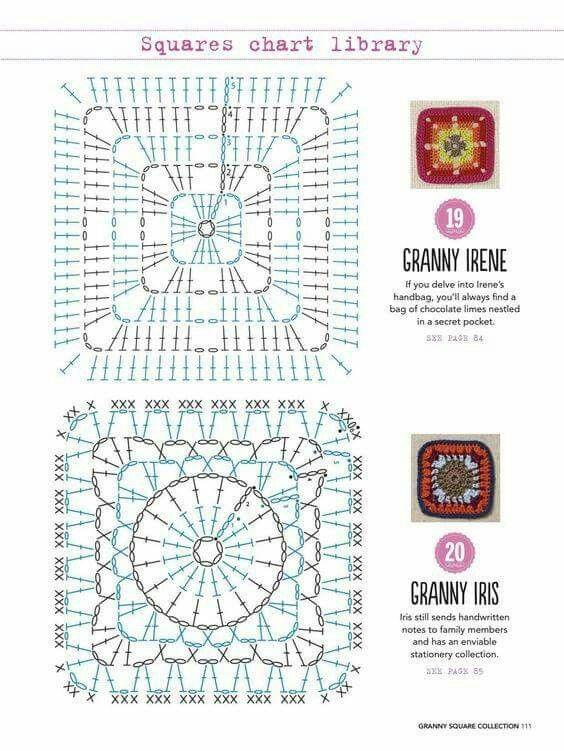 Pin de caroline parsons en Crochet squares & motifs | Pinterest ...