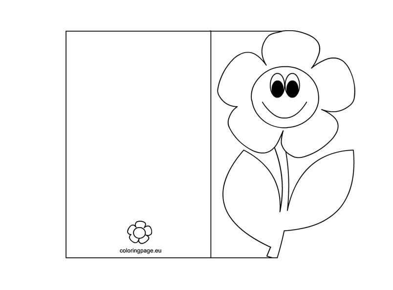 Motheru0027s Day Card Coloring Page