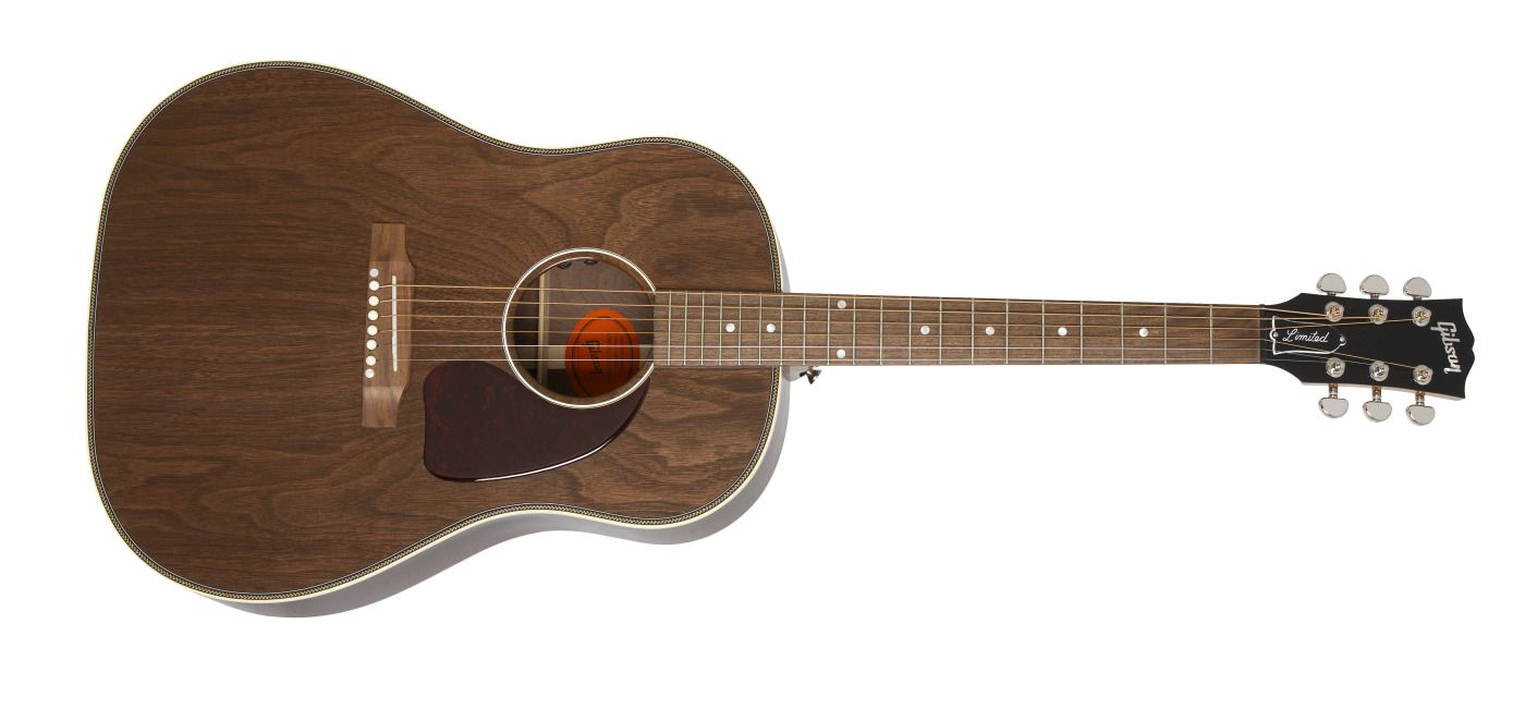 Gibson Herringbone Trimmed All Walnut J 45 Acoustic Guitar One Of Gibson S Most Iconic Models Hand Built With Spectacular Guitar Gibson Acoustic Acoustic