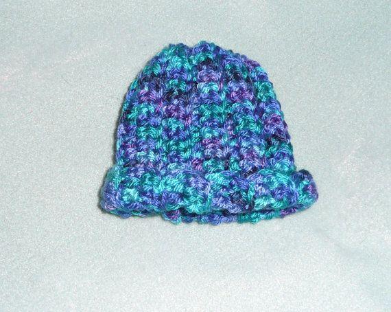 069592762d8 Preemie crochet baby hat.