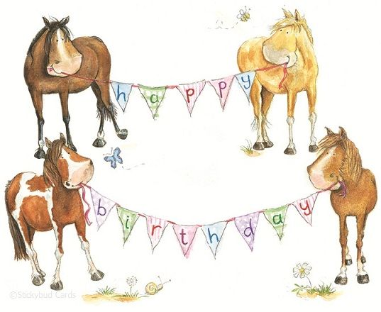 Horse Birthday Card With Images Happy Birthday Horse Country