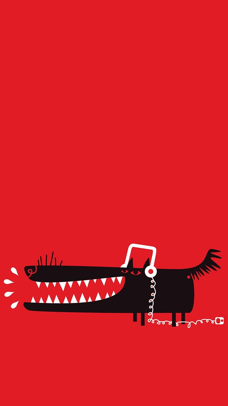 Funny Cartoon Dog On Red Background Wallpaper From Everpix See