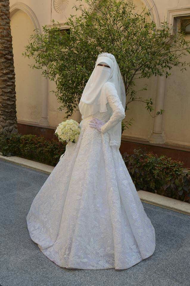 Pin By Ama On Niqab Muslimah Wedding Dress Wedding Dresses Hijabi Wedding