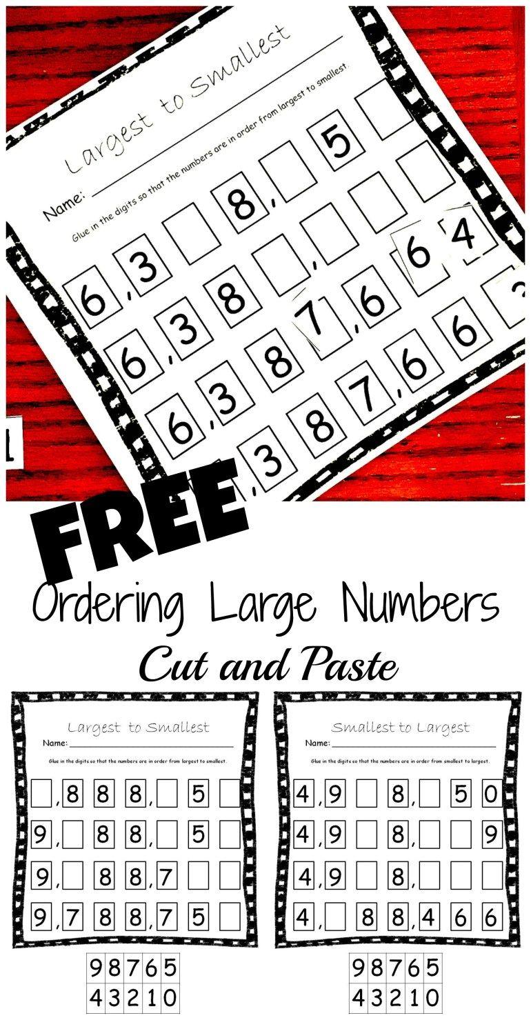 FREE Ascending and Descending Order Worksheets For Large