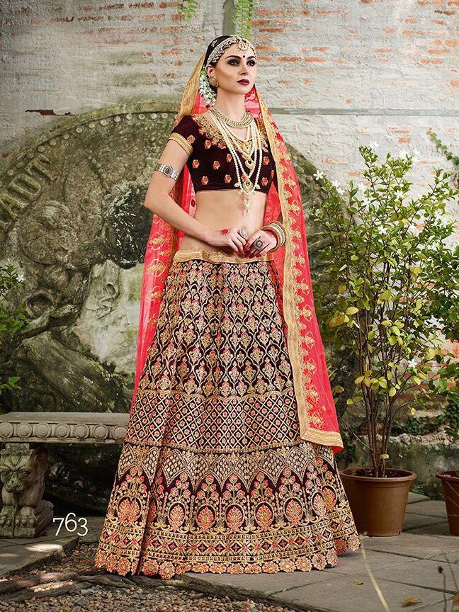 a4006ab31a Wedding Designer Velvet Lehenga Bollywood Pakistani Indian Ethnic Choli  Freeship #Shoppingover #LehengaCholi