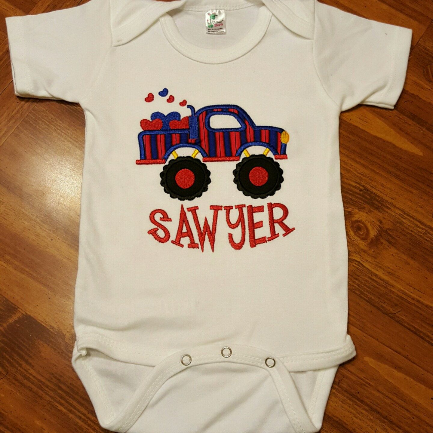Boys Valentine Truck Applique Personalized Bodysuit Valentines For Boys Boys Clothing Items